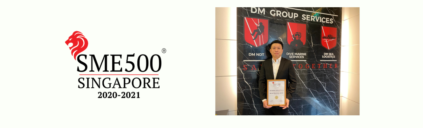 Dive Marine Services receives prestigious Singapore SME 500 Award