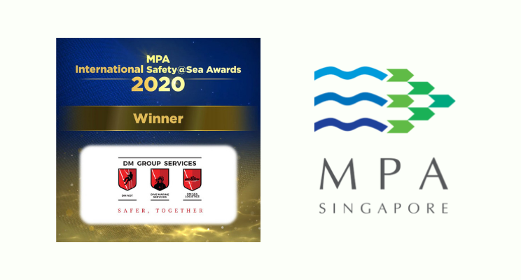 DM Sea Logistic (DM Group Services) Receives MPA International Safety@Sea Award 2020